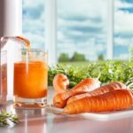 Fresh Carrot Juice Being Made