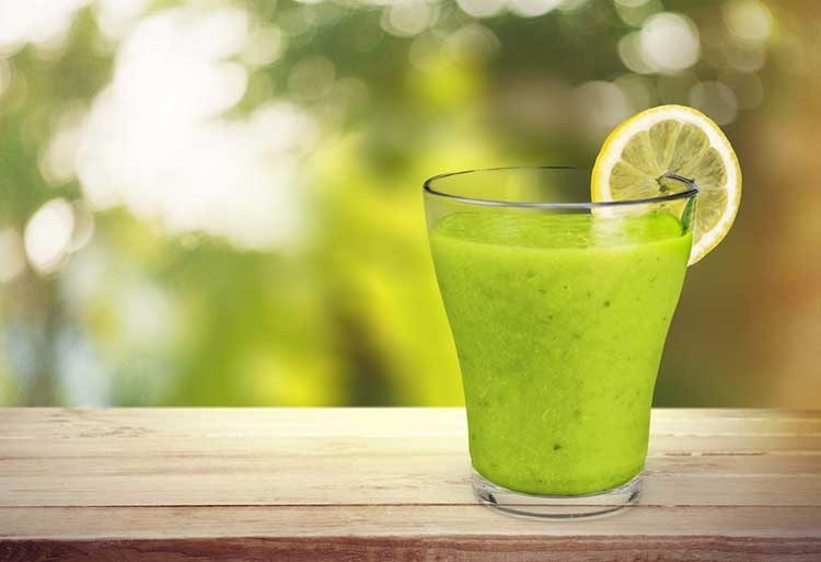 Green Juice On Table For Weight Loss