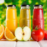 Orange Apple And Tomato Juices