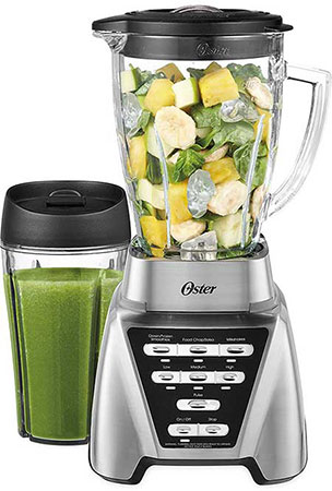 Oster Stand Alone Blender Making Green Juice