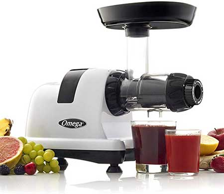 Omega J8006 Nutrition Center Quiet Dual Stage Slow Speed Masticating Juicer