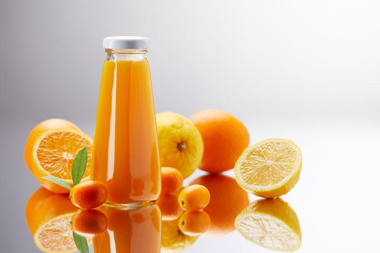 Orange Juice Stored In Bottle