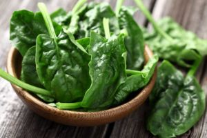 Bowl Of Raw Spinach