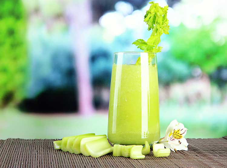 Celery Juice Outside Being healthy