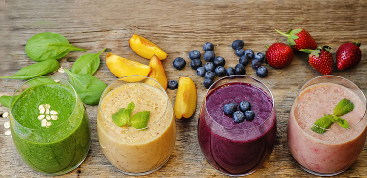Collection Of Smoothies Made In A Magic Bullet Blender