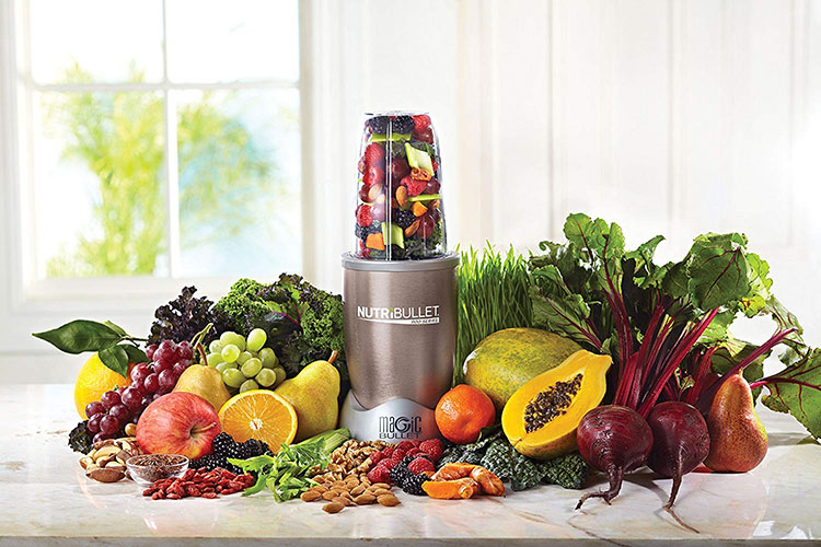 Nutribullet Pro Surrounded By Fruit