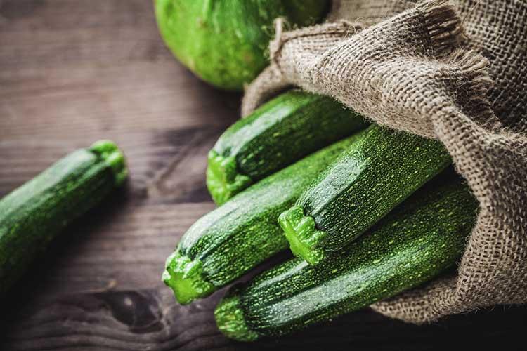 Sack of Organic Zucchini