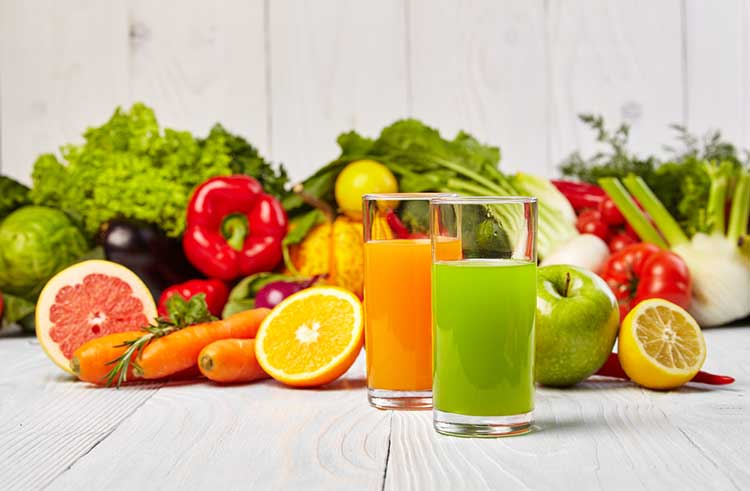 Fruits and Vegetables Ready For Juice Cleanse