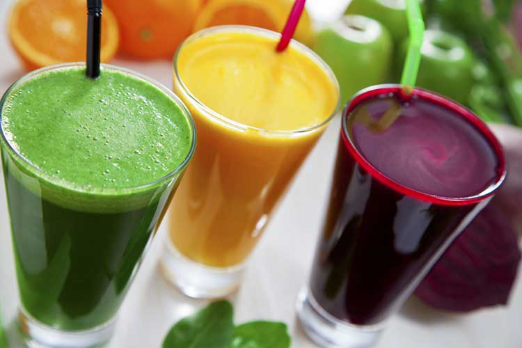 Three different juices