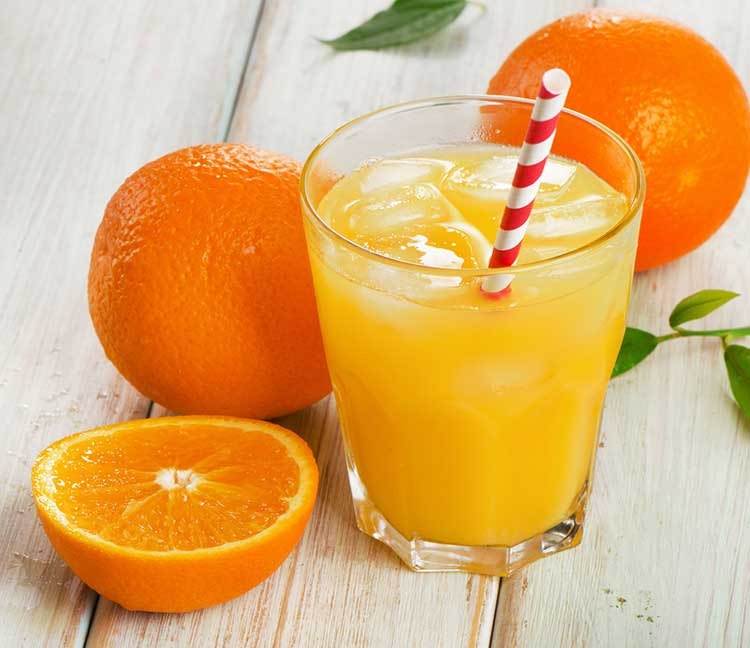Healthy Orange Juice In A Glass