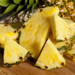Chunks-of Pineapple ready to be juiced