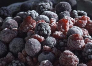frozen fruit ready to be juiced