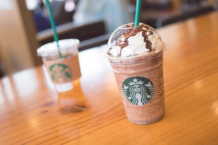 Drink Made From A Starbucks blender