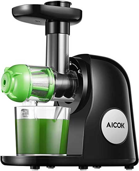 Aicok Juice Machine Slow Masticating Juicer Extractor Easy to Clean, Quiet Motor