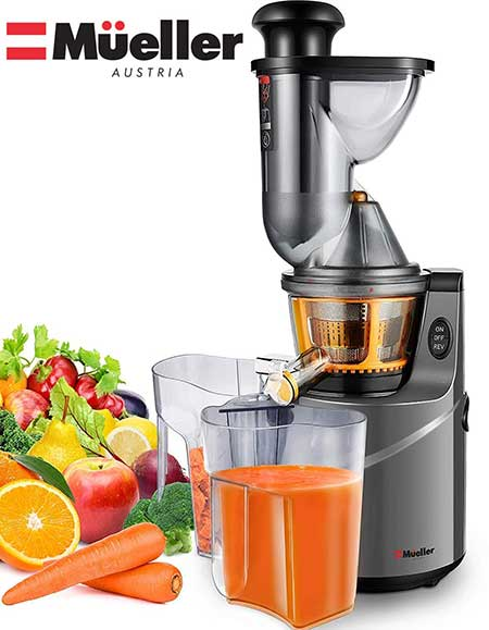Mueller Austria Ultra Juicer Machine Extractor with Slow Cold Press Masticating Squeezer Mechanism Technology