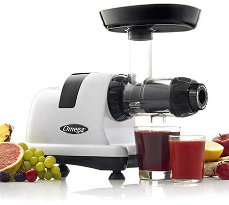 Omega J8006HDS Nutrition Center Quiet Dual Stage Slow Speed Masticating Juicer