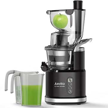 Aeitto Portable Cold Press Slow Juicer