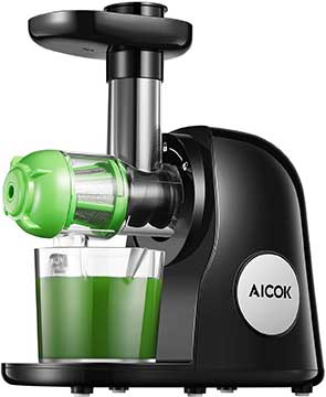 Juicer Machines, Aicok Slow Masticating Juicer Extractor Easy to Clean