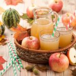 Apples and apple juice prepared for juicing