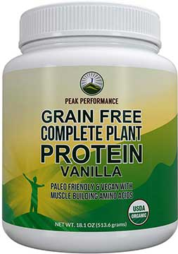 Peak-Performance Grain Free Plan  Based Protein Powder
