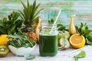 Green Juice Made from fiber vegetables