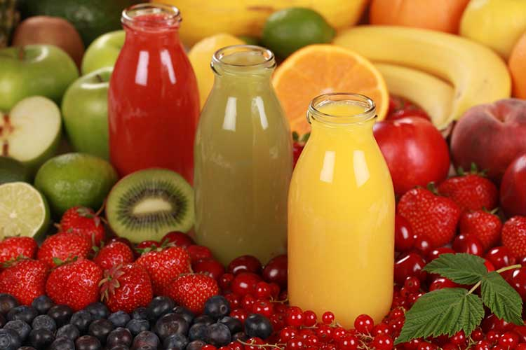 Juices ready for a juice cleanse