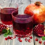 Pomegranite juiced and ready to be drank
