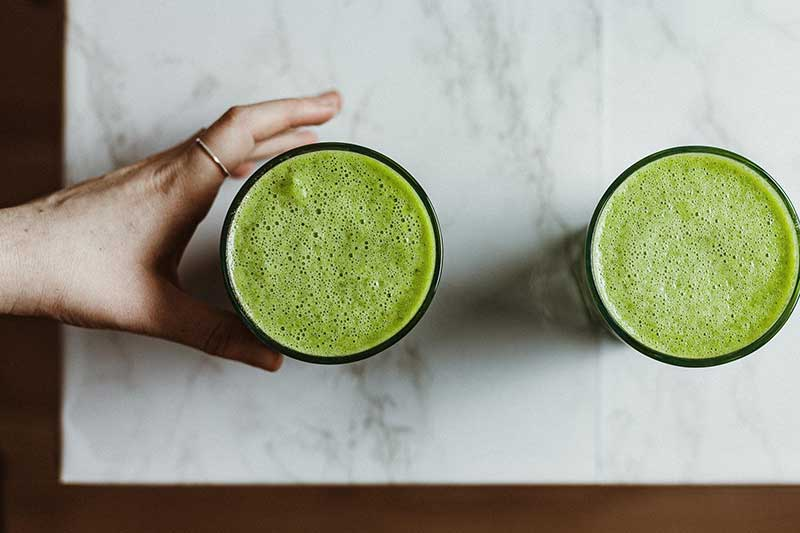 Green juice on keto